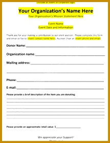 Download our sample auction donation form that you can use to send to your supporters to 279215
