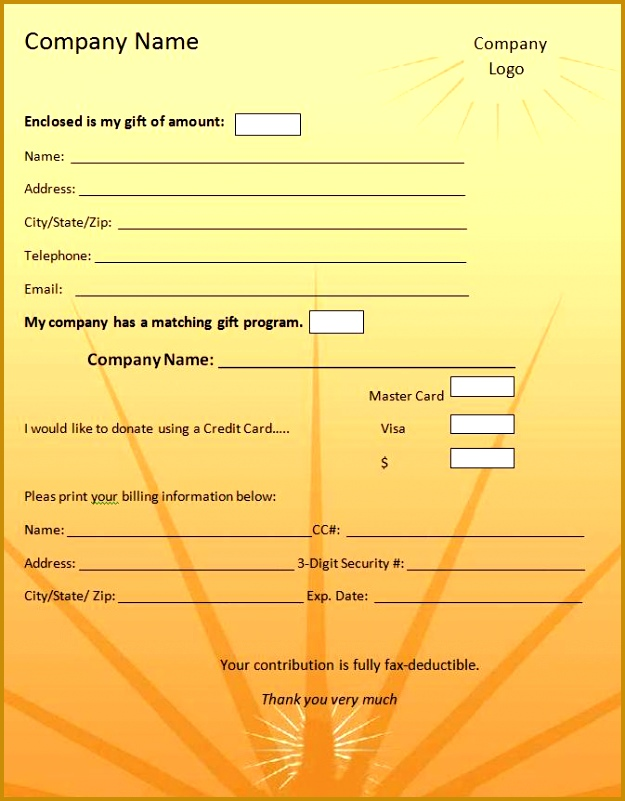 Donation Form Example Donation Form Template Graphics And Templates 801625