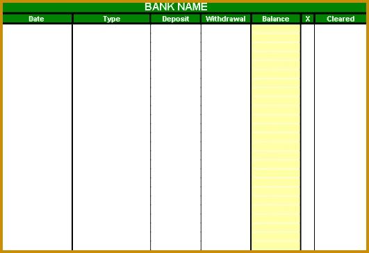 account balance template