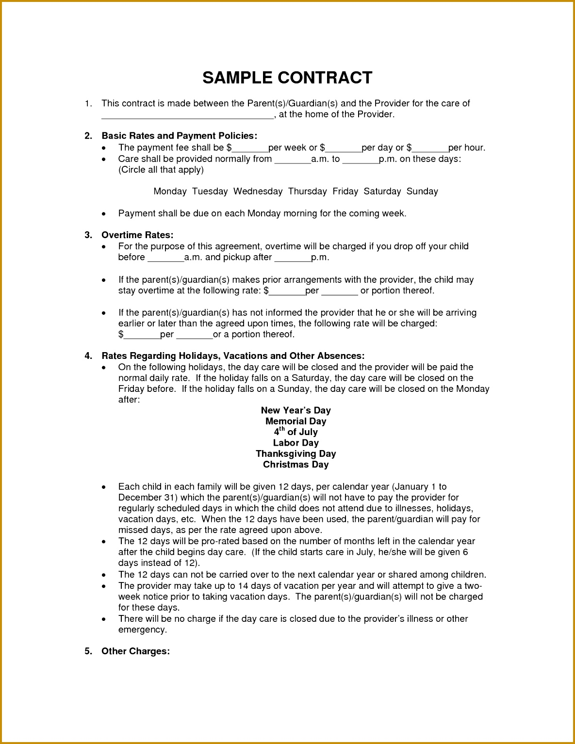 scope of work template 11851534