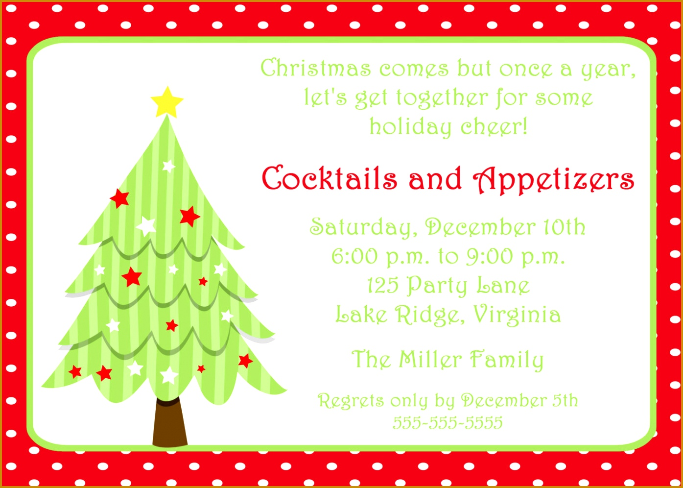 4 Christmas Party Invitation Template