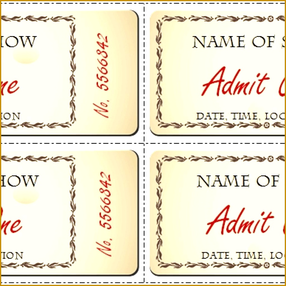 Template Cinema Ticket Template Word certificate template for