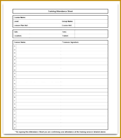 class sign up sheet template