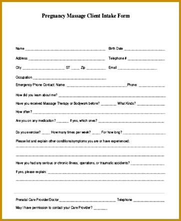 Marielles Client Intake Form Client Information Form Template 441362  Client Information Form Template