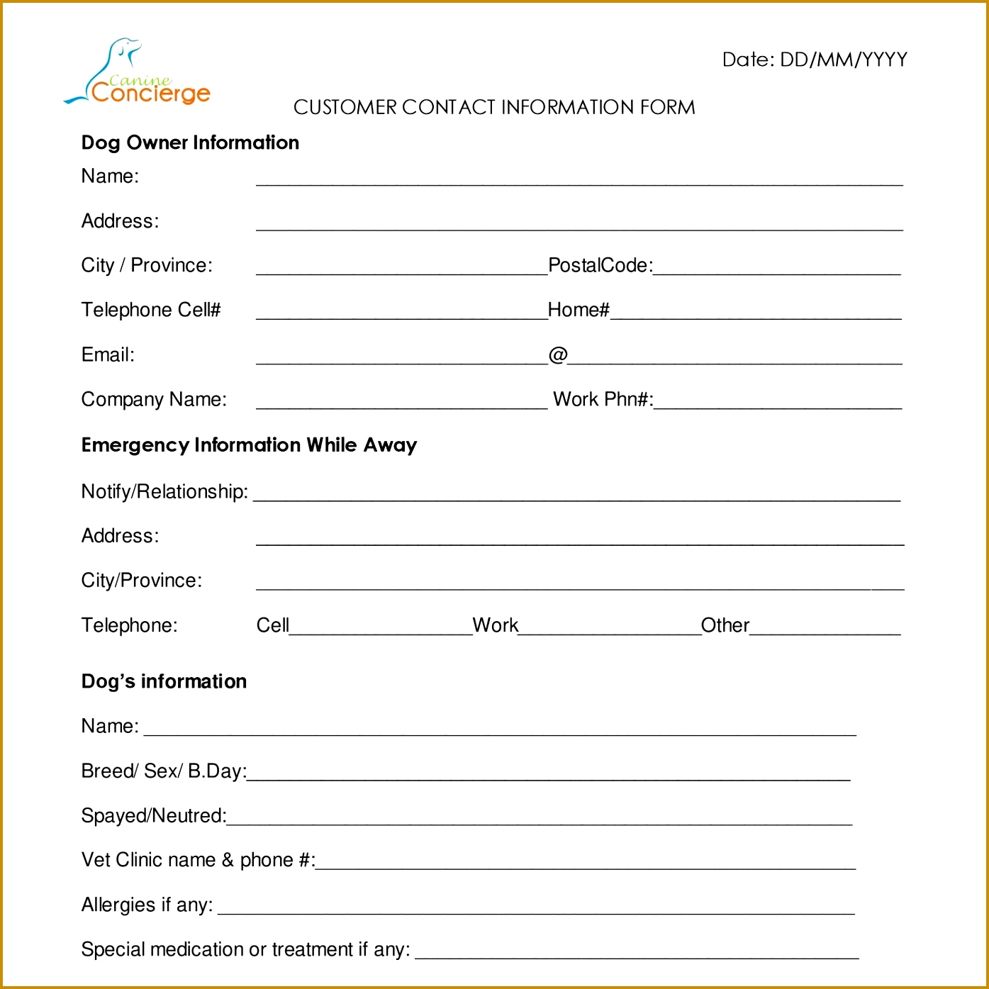 Audition Form Template Eliolera Resume Format Download Free Pdf Customer Contact Info Form Canineconcierge Audition Form 13951395