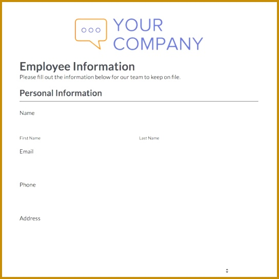 employee information form 544544