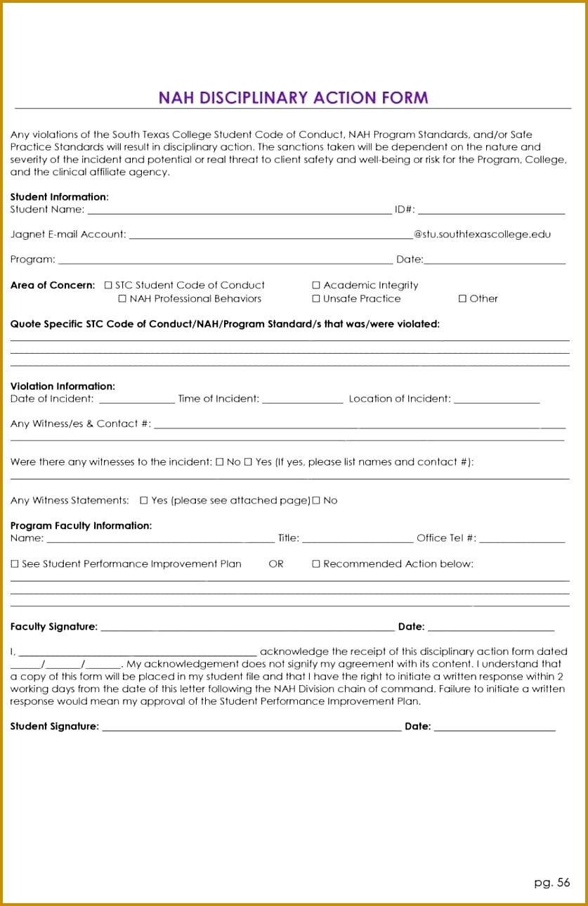 4 code of conduct form template