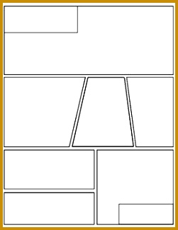 This is a blank graphic novel ic book template that can be used across all curriculum areas All pages can be flipped upside down for a total of six 325251
