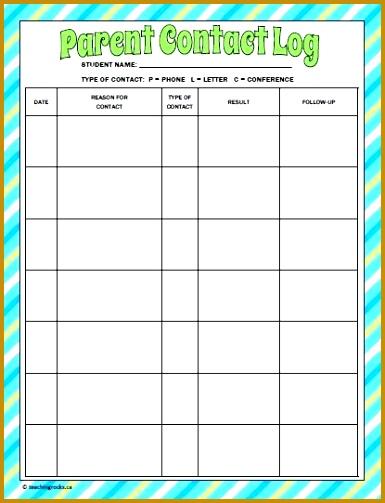 Best 25 Parent Contact Log Ideas Pinterest 503385
