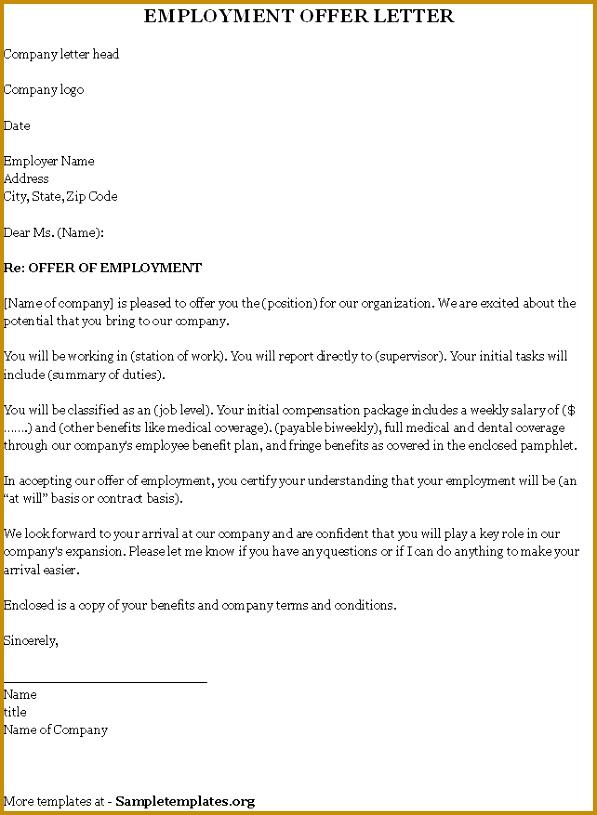 Employment fer Letter Template Incheonfair Employment fer Letter Sample Kkjk 815597