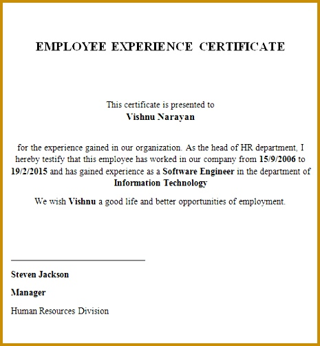 Leave Cancellation Attendance Regularization An Experience certificate 502465