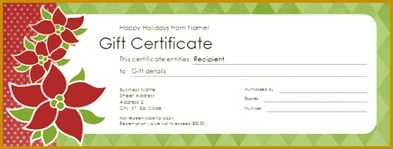 Free Gift Certificate Template 212558