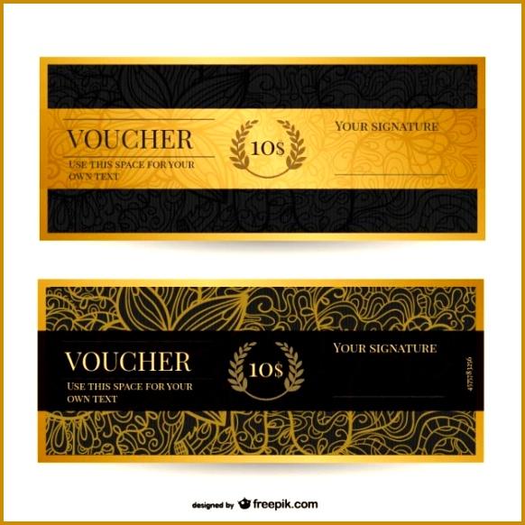 Vintage voucher template 582582