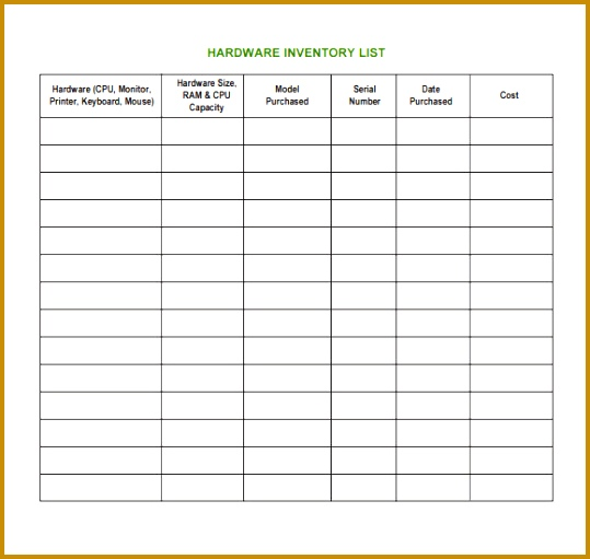 Computer Inventory List Excel Spreadsheet  Fabtemplatez