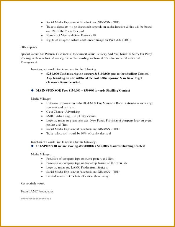 3 Concert Proposal Template Fabtemplatez