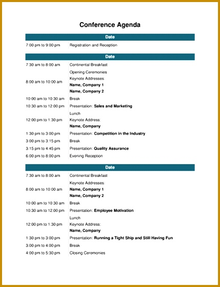 Conference agenda Templates · Agendas Conference agenda 558429