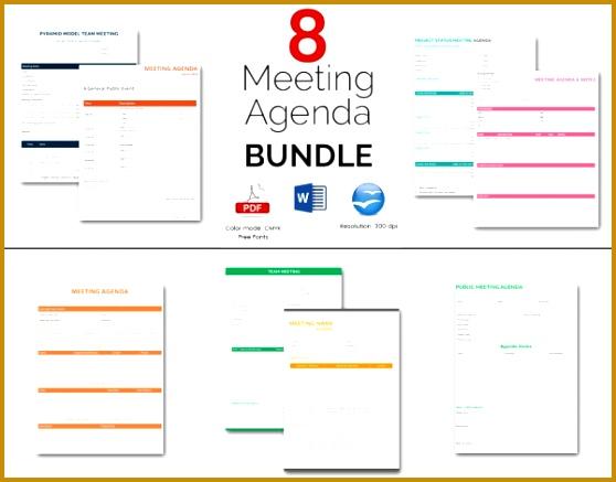 8 Amazing Meeting Agenda Templates Bundle 437558