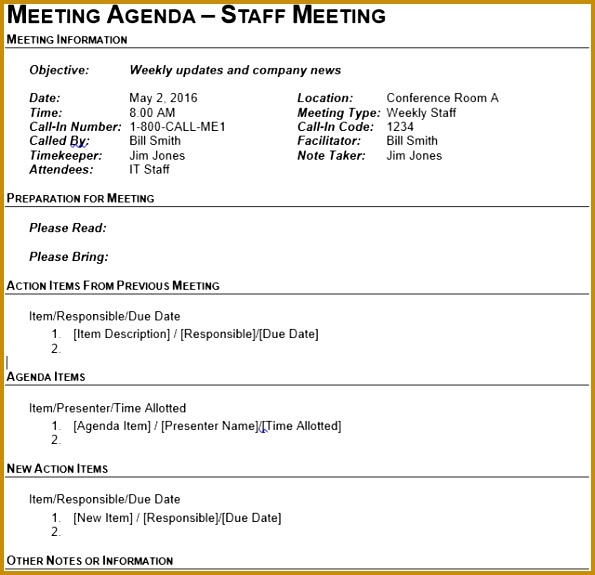 5 Conference Itinerary Template