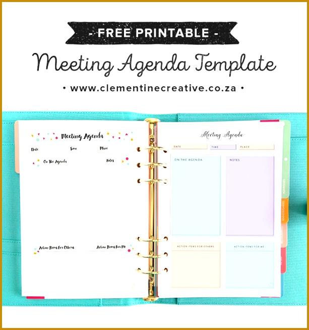 Free Pretty Printable Meeting Agenda Templates 654613