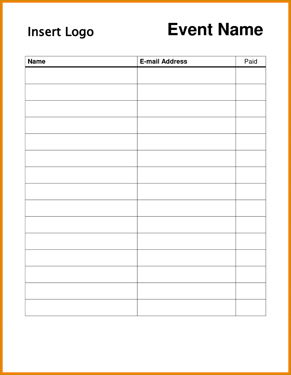 7 Conference Sign Up Sheet Template FabTemplatez