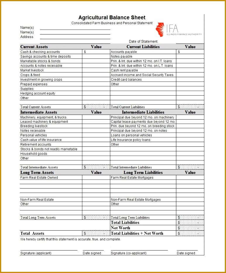 Free Printable Balance Sheet  Free Printable Balance Sheet Template