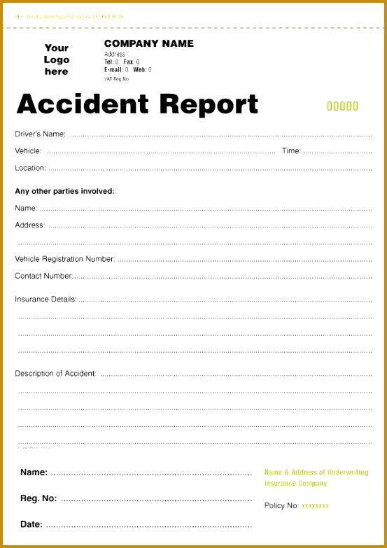 construction accident report form sample 783553
