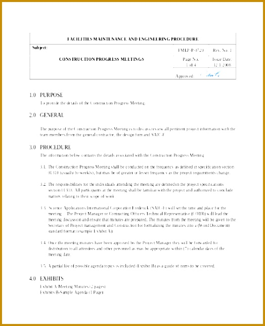 Sample Meeting Minutes Template Document Sample Gekki Unique Construction Minutes Template – Free Sample Example format 524644