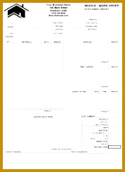 Job Invoice Work Order Form Template 245178