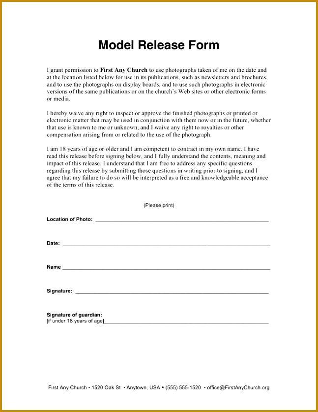 Content Release Form Template  Fabtemplatez