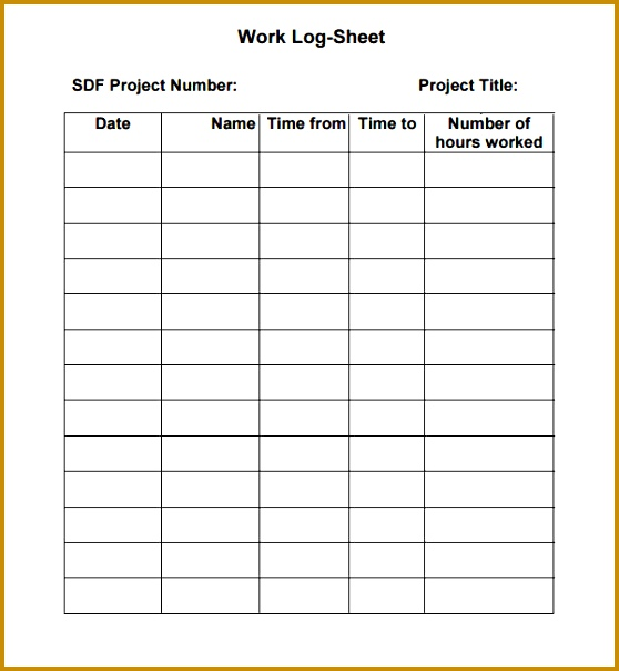 work log sheet 604558