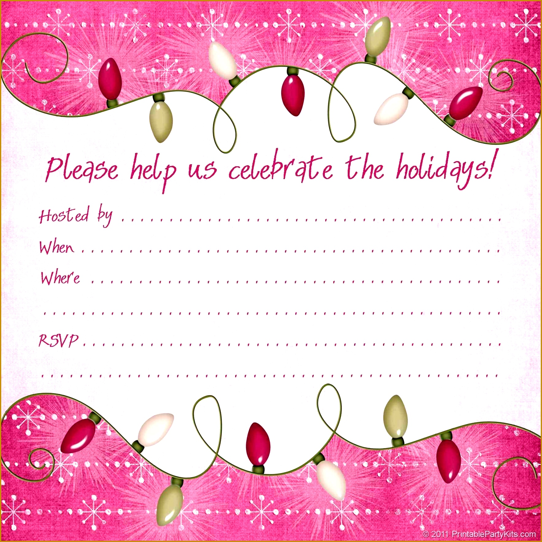 Winter Party Invitation Template Free 17671767