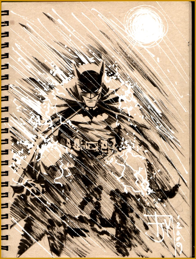 Drink and Draw Batman by manapul 837635