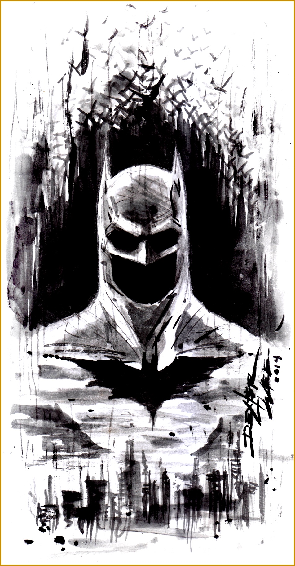 BATMAN SKETCH by Dexter Wee i like the emptiness of the chin eyes 1826952