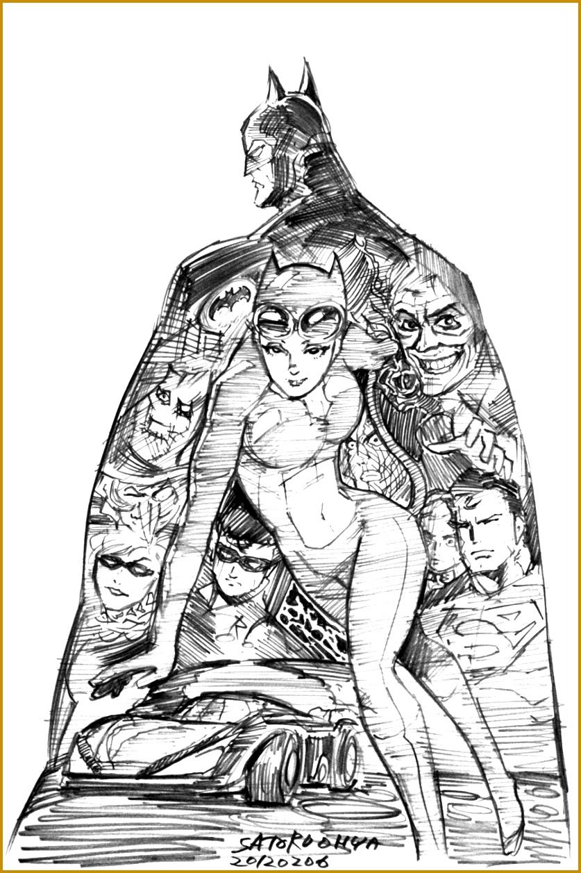 BATMAN drawing in 30min by S Oh yah 8371257