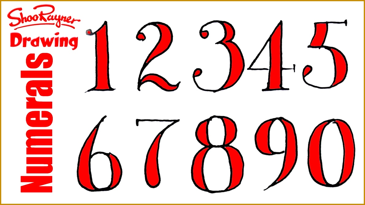 4 cool number fonts