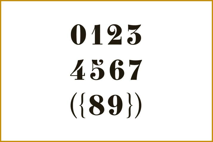 number fonts 714476