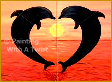 couples paint night e PAINT THE NIGHT AWAY and create your own island inspired painting ideas Pinterest 279380