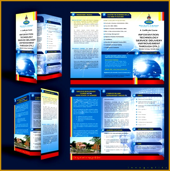Educational Course Brochure Template 549544
