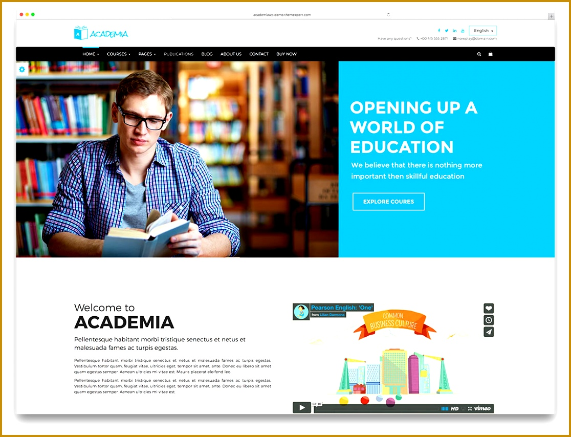 academia classic education website template 8541116