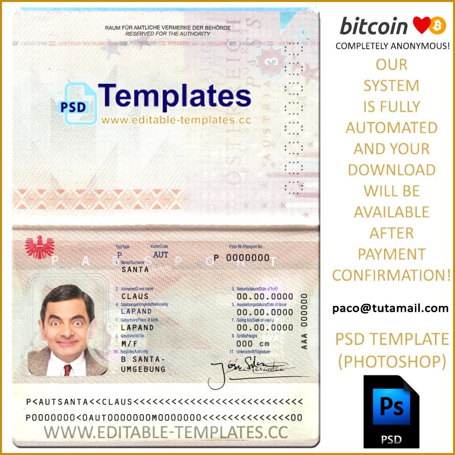 3 create fake passport template fabtemplatez austria passport template 930930 maxwellsz