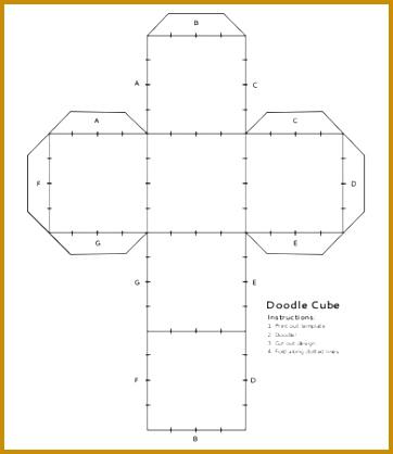 Doodle Cube Template 418362