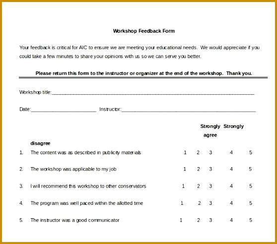 feedback form sample sample customer feedback form 22 free 492558