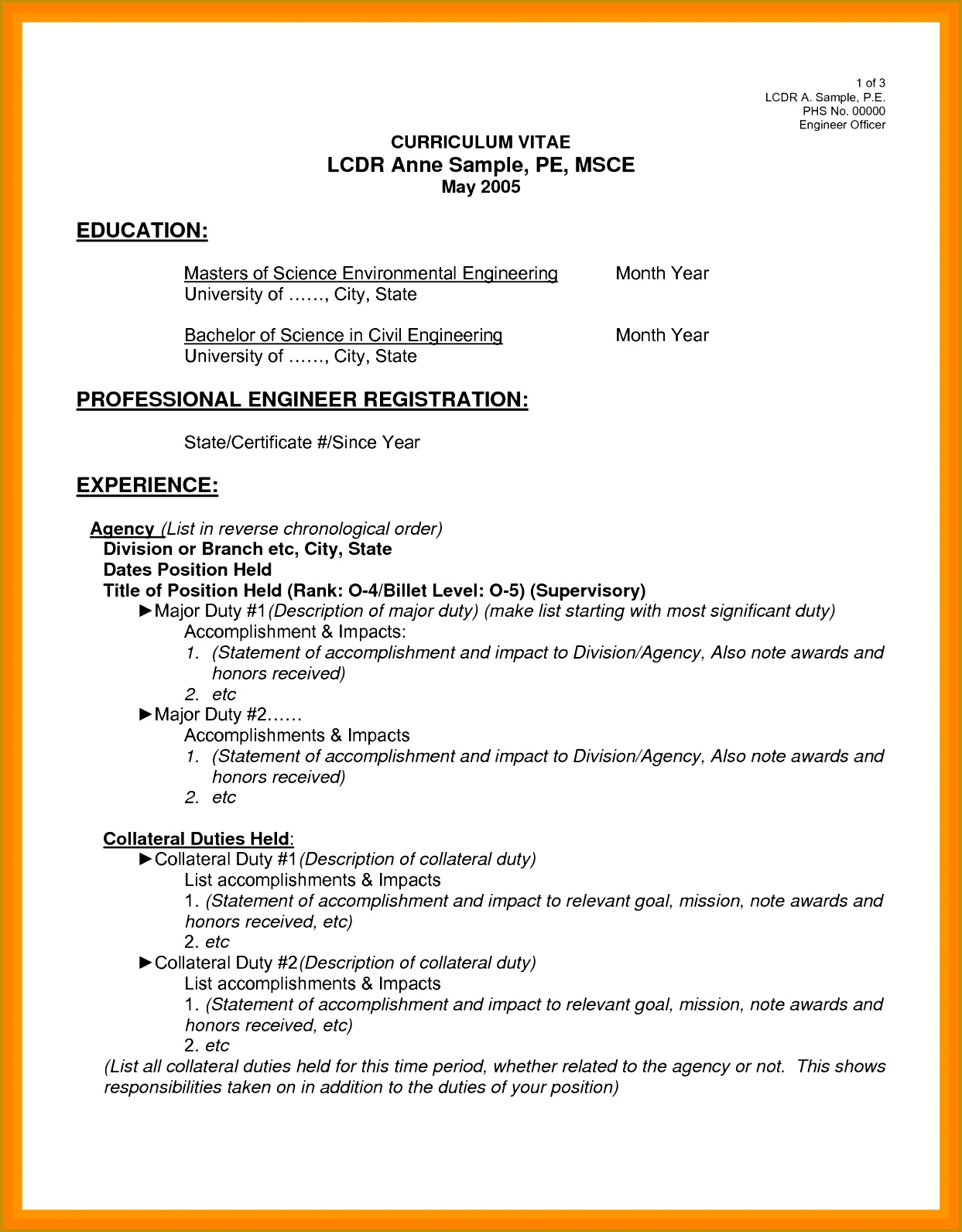 7 Cv for Civil Engineer Pdf | FabTemplatez