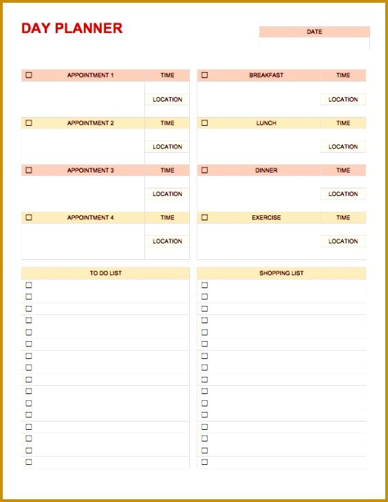 Temp DayPlanner Word Download Day Planner Template 730564