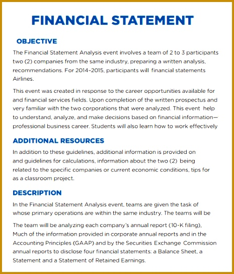 daily financial report format