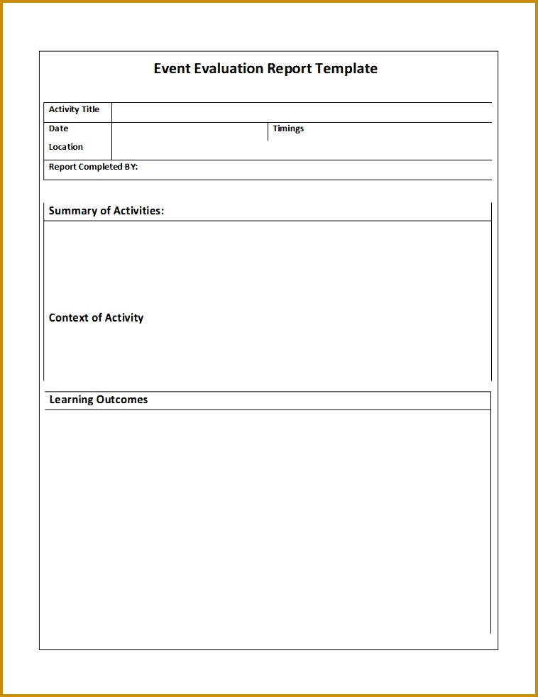 Daily Report Template 982758