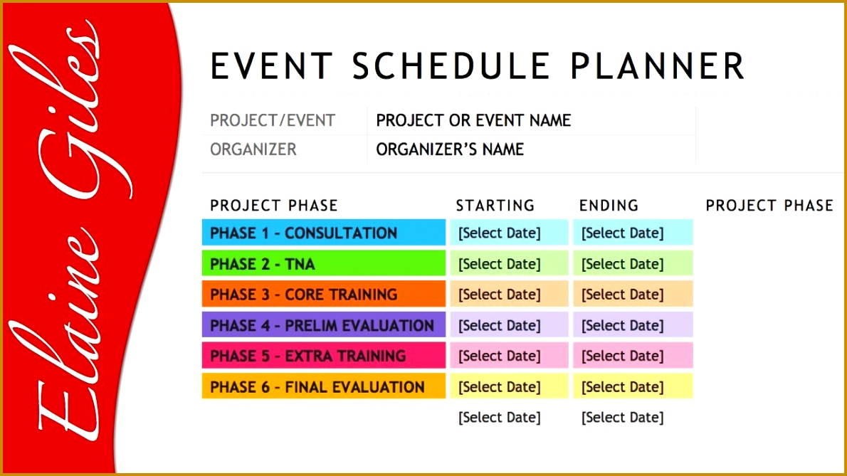 Day Of Event Timeline Template FabTemplatez FabTemplatez - Event timeline template excel