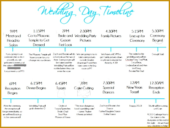 wedding day timeline template 411548