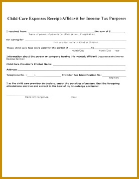 daycare receipt template canada 358277