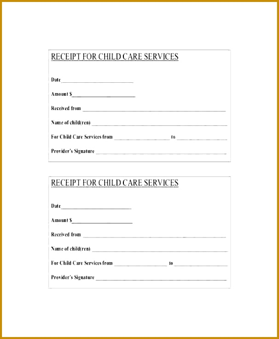 child care receipt Child care receipt template 684563
